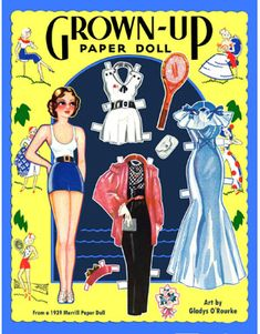 Post Card-Grown Up Paper Dolls or  4-0* The International Paper Doll Society by Arielle Gabriel for all paper doll and paper toy lovers. Mattel, DIsney, Betsy McCall, etc. Join me at ArtrA, #QuanYin5 Linked In QuanYin5 YouTube QuanYin5!