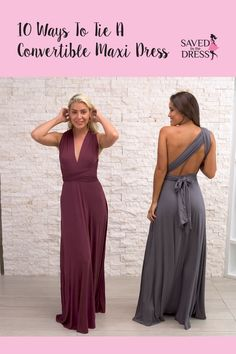 Check out our favorite 10 ways to tie a convertible maxi dress. Head over to and view our wide selection of both formal and casual convertible maxi dresses. We have the perfect long dresses for your next special occasion, Infinity Dress Ways To Wear, Infinity Dress Styles, Infinity Dress Bridesmaid, Infinity Dress Tutorial, Women's Fashion Dresses, Casual Dresses, Maxi Dresses, Long Dresses, Evening Dresses