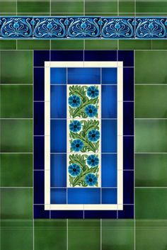Tiles for Walls, Fireplaces and Porches from Victorian Ceramics Victorian Front Garden, Victorian Porch, Victorian Tiles, Victorian Fireplace, Victorian Bathroom, Victorian Interiors, Porch Wall Tiles, Terrace House Exterior, Hearth Tiles