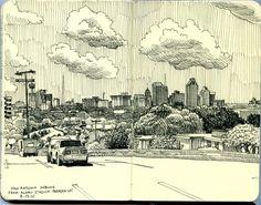 san antonio skyline from alamo stadium parking lot | Flickr - Photo Sharing!