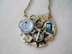 FOR GRACE- Doctor Who Steampunk Tardis Necklace A Guide by TimeMachineJewelry, $30.00