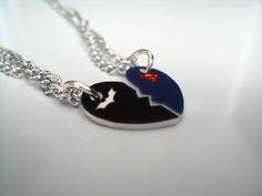 batman superman necklaces