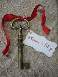 Santa's Key Christmas Ornament Christmas Decor by GoldenNestStudio, $8.75