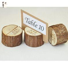 Custom Rustic Wedding Table Number 1-10, Wood Table Numbers Holder Party Wedding Table Name Card Holder, Rustic Table Decoration - Wedding table decor (*Amazon Partner-Link)