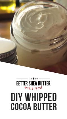 Whipped Cocoa Body Butter DIY Kit - Everything you need to make our famous recipe for Cocoa Body Butter. Homemade Body Butter, Whipped Body Butter, Whipped Coconut Oil, Uses For Vicks, Vicks Vaporub Uses, Butter Recipe, Belleza Natural, Cocoa Butter, Herbal Remedies