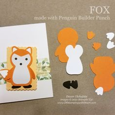 Paper Punch Art, Punch Art Cards, Embossed Cards, Animal Cards, Kids Cards, Homemade Cards, Stampin Up Cards, Note Cards, Christmas Cards