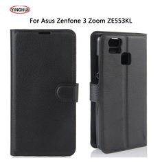 YINGHUI For Asus Zenfone 3 Zoom ZE553KL Case Luxury Flip Cover Leather Case Coque For Zenfone 3 ZE553KL Protective Phone Cover