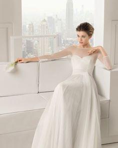 Klassische Brautkleider mit langem Arm für die herbstliche Hochzeit Image: 7