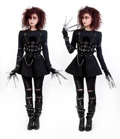 Cute Edward Scissor Hands cosplay