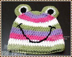 Frog Hat Crochet Pattern