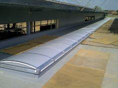 Completed barrel vault #rooflight installation at Great Marlow School.
