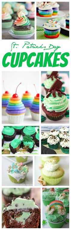 St. Patrick's Day Cupcakes Recipe! Homemade Treats of Rainbows and Green! Can you find the pot of gold at the end of these party dessert recipes?!
