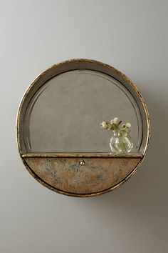 Anthropologie Industrialist Mirror Shelf
