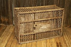 Vintage Primitive CHICKEN CRATE Wood Box by SaveAmericanHistory
