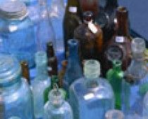 Tips on how to clean old glass bottles.