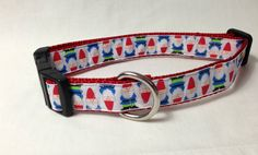 Gnomes Dog Collar by caninedesign on Etsy, $10.00