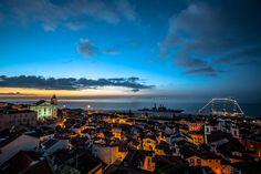The sun rises at Alfama, Lisbon, Portugal by Nuno Trindade, via 500px