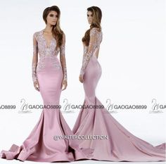 free shipping, $125.63/piece:buy wholesale  walter collection light pink lace stain long sleeve dubai arabic prom party formal dresses v-neck trumpet occasion cheap gown 2016 fall winter,reference images,satin on gaogao8899's Store from DHgate.com, get worldwide delivery and buyer protection service.