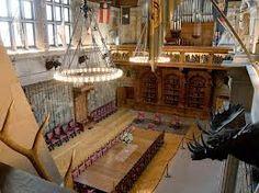 Biltmore House- 2nd Floor- view of Banquiet Hall & Pipe organ from 2nd floor hall window