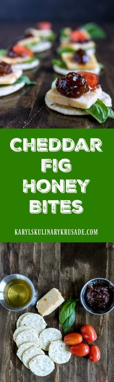 Cheddar Fig Honey Bites are a delicious, gluten fr…