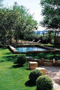 Another raised edge pool.  Love.