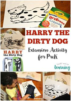This easy Harry the Dirty Dog Activity was a big hit with my preschooler! Preschool Books, Preschool Learning Activities, Preschool Ideas, Nanny Activities, Preschool Projects, Fall Preschool, Homeschooling Resources, Writing Activities, Fun Learning