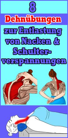 8 stretching exercises to relieve neck and shoulder tension - 8 stretching exercises to relieve neck and shoulder tension Informations About 8 Dehnübungen zur En - Fitness Workouts, Yoga Fitness, Fitness Diet, Health Fitness, Diet Programme, Biceps, Healthy Sport, Shoulder Tension, Yoga Exercises