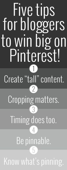 five tips for bloggers to win big on pinterest.