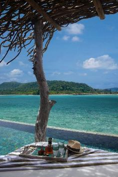 Song Saa Private Island: Look out to clear aquamarine waters from your one-bedroom over-water villa.