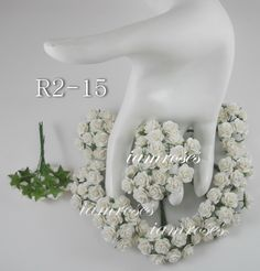 Mini White Paper Flowers