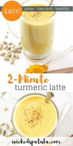 This Upgraded Turmeric Latte will have you glowing from the inside out! - This Upgraded Turmeric Latte will have you glowing from the inside out! Best Paleo Recipes, Snack Recipes, Snacks, Drink Recipes, Smoothie Recipes, Philippe Rigollot, Best Nutrition Food, Proper Nutrition, Nutrition Products