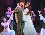 Lee and Peach Coyne as Robin Hood and Maid Marion in panto