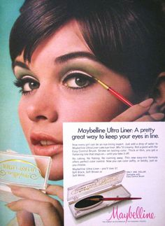 Ultra Liners by Maybelline, 1969. This was 45 years ago...and we still haven't come up with the perfect liner...I know I'm still looking!