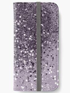 """Sparkling Lavender Lady Glitter #2 #shiny #decor #art"" iPhone Wallets by anitabellajantz | Redbubble"