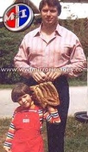 Vince McMahon & his daughter Stephanie McMahon when she was a little girl