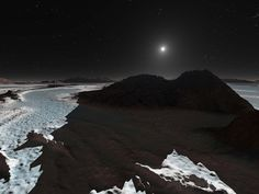 Some astronomers have suggested that rivers of liquid nitrogen and neon might flow across the frigid surface of Pluto.