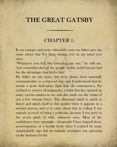 Classic Book Page, F. Scott Fitzgerald , The Great Gatsby, Chapter Page Book Page Wall Art, Book Page Art Print Great Gatsby Quotes, The Great Gatsby, Book Page Art, Old Book Pages, Olga's Snackers Recipe, Bujo, Gatsby Book, Blackout Poetry, Scott Fitzgerald