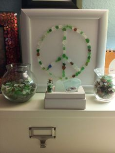 My seaglass finds from San Clemente, Hawaii & Long Island.