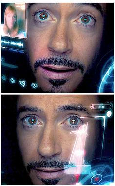 "Good lord - can his eyes be any prettier?  (Robert Downey Jr. - ""The Avengers"")"