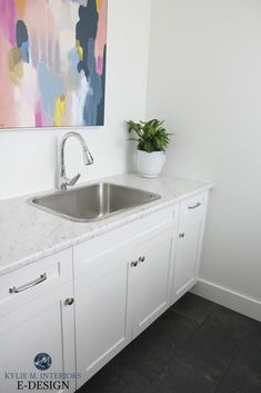 Farmhouse paint A Beautiful New ALL White Open Layout Home (with a lil' colour here and there) Showe Formica Laminate, Best Laminate, Formica Countertops, Wood Laminate, Painting Laminate, Best White Paint, White Paint Colors, White Rooms, White Walls
