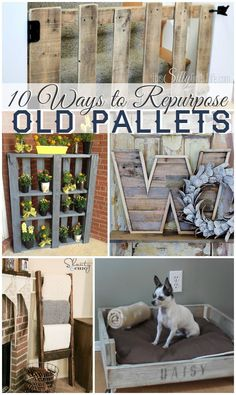 10 Ways to Repurpose Old Pallets, get inspired with this collection of pallet DIY tutorials! - http://ThisSillyGirlsLife.com