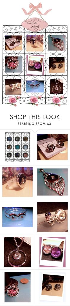 """""""Snap Jewelry at Charmed Heartz"""" by cozeequilts ❤ liked on Polyvore featuring Melannco"""