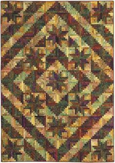 """New England, a Log Cabin quilt original - Stellar Quilts, 2008. Designed and pieced by Judy Martin. Quilted by Margy Sieck. 73"""" x 102"""". Alternate sizes of 58"""" x 58"""" and 102"""" 102"""" also presented."""