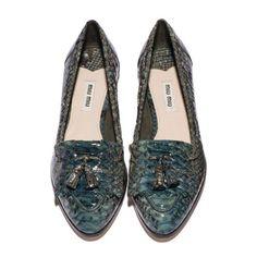 Miu Miu Python loafers