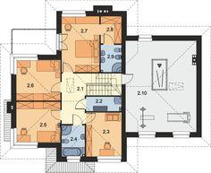 DOM.PL™ - Projekt domu ARP EMILIAN CE - DOM AP2-13 - gotowy koszt budowy Classic House Exterior, Modern Small House Design, Floor Plans, Houses, Home Plans, Fonts, Mauritius, Modern, House
