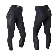 2XU Mid Rise Compression Tight, Strl ST, Black/Dotted reflect