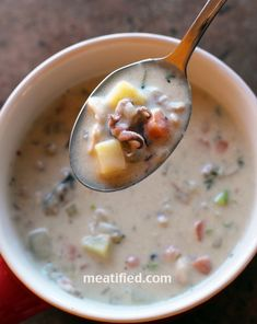 Dairy Free Seafood Chowder. Thick, creamy & delicious, without any kind of dairy. Yay!