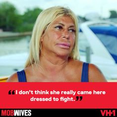 """Define """"dressed to fight"""" 'cause we've seen fight in formal + casual wear. Mob Wives, Reality Tv Shows, Casual Wear, Interview, The Originals, Formal, Casual Outfits, Preppy"""