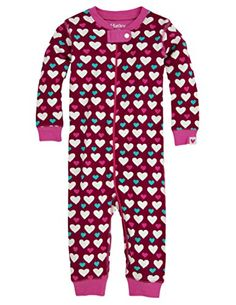 Hatley Baby Girls Newborn Sleepy Romper Lots Of Hearts Red 36 Months * Click on the image for additional details.