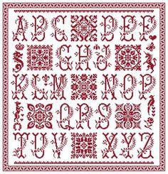 Marquoir au point de croix - Cuadros - www.clorami-designs.be